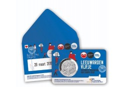 Nederland 2018 5 Euro Leeuwarden Culturele stad van Europa 1e dag in coincard