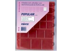 4 x mix-vaks populair muntbladen met rode schutbladen