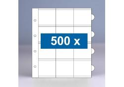 500 x 12-vaks populair muntbladen zonder schutbladen