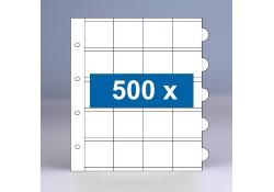 500 x 20-vaks populair muntbladen zonder schutbladen
