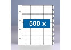 500 x 63-vaks populair muntbladen zonder schutbladen