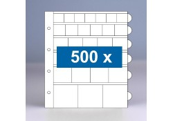 500 x mixblad populair muntbladen zonder schutbladen