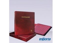 Gewatteerd Album incl. Cassette,  Bordeauxrood met goudopdruk, incl. 5 muntbladen en rode schutbladen