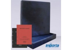 Gewatteerde band incl. Cassette Blauw, zonder goudopdruk met rood & zwart voorblad