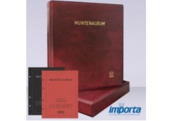 Gewatteerde band incl. Cassette, Bordeauxrood met goudopdruk, met rood & zwart voorblad