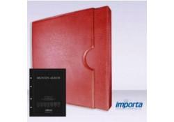 Band incl. Cassette Populair Rood zonder goudopdruk met zwart voorblad