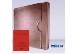 Band incl. Cassette POPULAIR Bruin zonder goudopdruk met rood voorblad