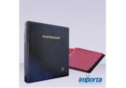 Gewatteerd Album, Blauw met goudopdruk, incl. 5 muntbladen en rode schutbladen