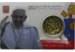 50 Cent Vaticaan 2018 in blister Nummer 9