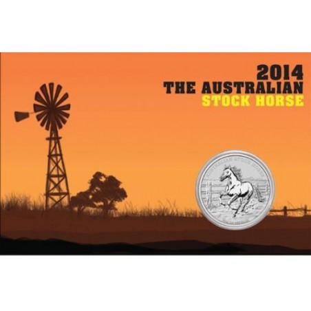 Australië 2014 1 Dollar Stock Horse 1 ounce zilver