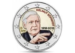 2 Euro Duitsland 2018  Helmut Schmidt Gekleurd willekeurige letter Voorverkoop*