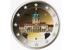 2 Euro Duitsland 2018  Charlottenburg Berlijn Gekleurd Willekeurige letter Voorverkoop*