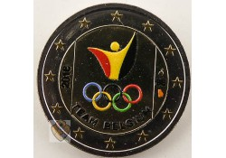 2 Euro België 2016 Olympische Spelen Rio Gekleurd