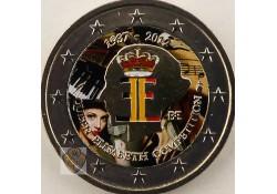 2 Euro België 2012  Queen Elisabeth Gekleurd