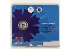 Frankrijk 2018 2 euro Korenbloem Bu in blster gekleurd