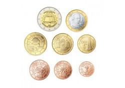 Serie Oostenrijk 2007 UNC met de 2 euro Verdrag van Rome
