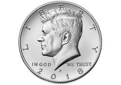 KM ??? U.S.A. ½ Dollar 2018 D Unc