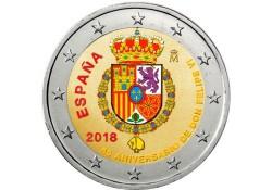 2 Euro Spanje 2018 Don Felipe VI  Gekleurd