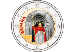2 Euro Spanje 2018 Santiago de Compostela Gekleurd