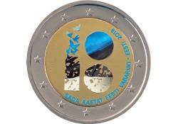 2 Euro Estland 2018 100 jaar republiek Gekleurd