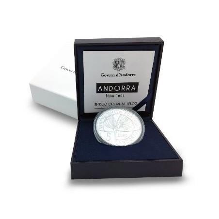 Andorra 2018 5 euro 25 jaar Constitutie zilver Proof