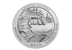 U.S.A ¼ Dollar Apostle Islands 2018 D UNC