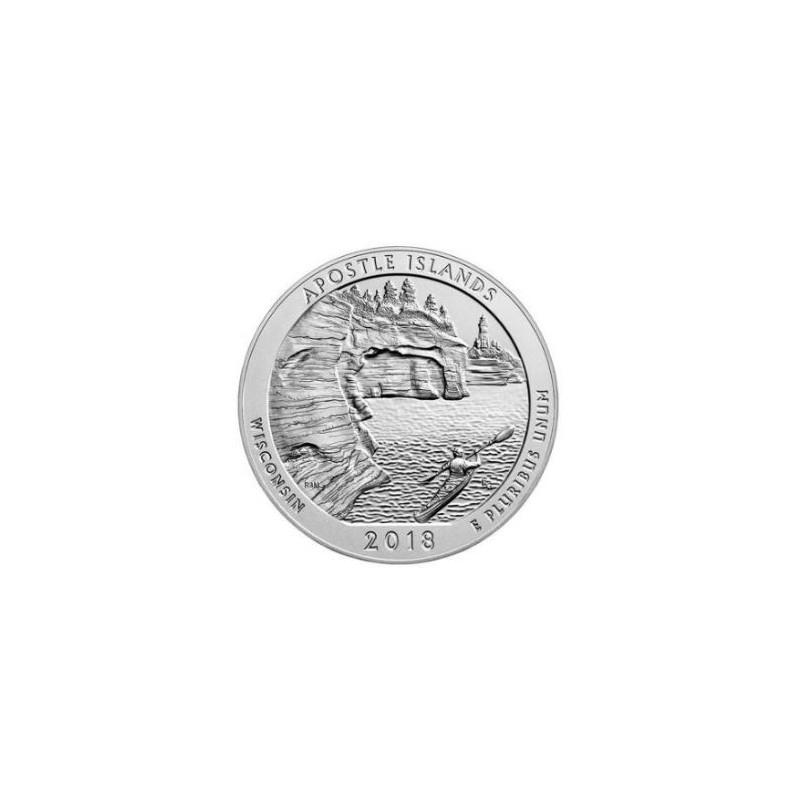 U.S.A ¼ Dollar Apostle Islands 2018 D UNC