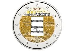 2 Euro Andorra 2017 Volkslied Gekleurd