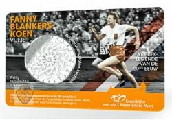 Nederland 2018 5 Euro Fanny Blankers-Koen Bu in coincard