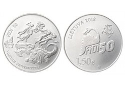 Litouwen 2018 1½ euro Fidi 50 Unc