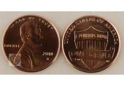 U.S.A. 1 Cent 2018 D Unc