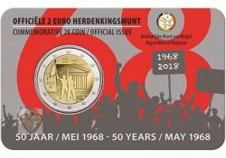 2 Euro België 2018 '50 jaar 1968' Bu in coincard Vlaams Voorverkoop*