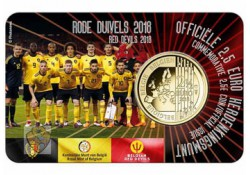 """België 2018 2½ Euro 'Rode duivels"""" Bu in coincard Waals Voorverkoop"""