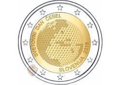 2 Euro Slovenië 2018 Bijendag Unc Voorverkoop*