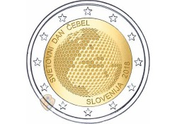 2 Euro Slovenië 2018 Bijendag Unc