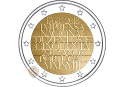 2 Euro Portugal 2018 National Printing House Unc Voorverkoop*