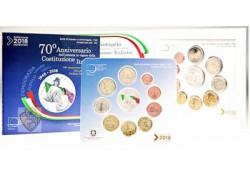 Bu set Italië 2018 met de 5 euromunt gekleurd (10 munten) voorverkoop*