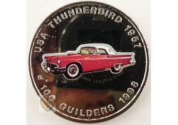 Suriname 1996 100 Gulden Thunderbird 1957 Proof