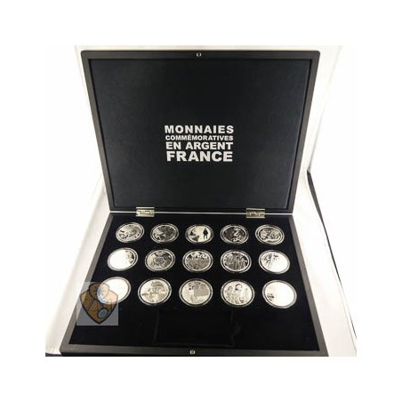 Frankrijk 2011-2015 serie Franse Literatuur 15 x 10 euro Proof in luxe cassette