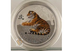 Australië 2010 1 Dollar year of the tiger Proof 1 Ounce Zilver