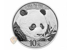 China 2018 10 Yuan Panda 1 Ounce zilver