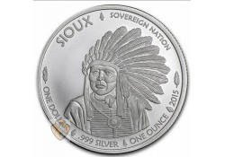 United States 2015 1 dollar Sioux/Buffallo  1 Ounce Zilver
