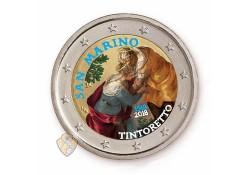 2 Euro San Marino 2018 Tintoretto gekleurd