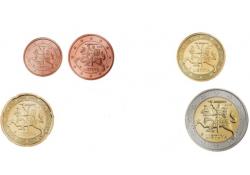 Serie Litouwen 2017 Unc (5 , 50 cent en de 1 euro zijn niet geslagen)