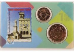 San Marino 2018 1 & 5 cent in coincard
