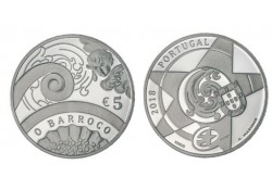 Portugal 2018 5 euro Het Baroque jaar.