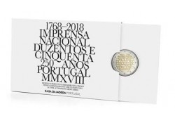 2 Euro Portugal 2018 National Printing House Proof