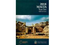 Bu set Malta 2018 Met extra de 2 euro Tempel Mnajdra met F in ster