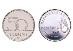 Hongarije 2018 50 Forint Unc Jaar van de Familie