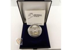Malta 2018 10 Euro 50 jaar centrale bank Zilver Proof